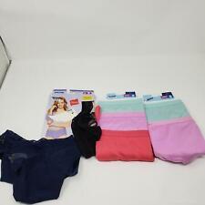 Hanes Briefs Underwear Panties Microfiber Tagless Women's Lace Size 8 XL 8 Pair