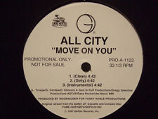 "ALL CITY - MOVE ON YOU / BASIC TRAINING (12"")  1997!!!  RARE!!!  ROCKWILDER!!!"