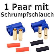 1 Paar EC5 Hochstromstecker Stecker + Buchse Goldstecker mit Schrumpfschlauch