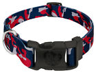 Country Brook Petz® Deluxe Navy Blue and Red Camo Dog Collar - Made in the U.S.A