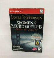 James Patterson Women's Murder Club Death in Scarlet PC & Mac CD Game w/ Novella