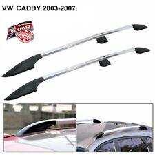 Aluminium Silver Pair Roof Rails Bars Set Fixings VW Caddy (2003 to 2009) M278
