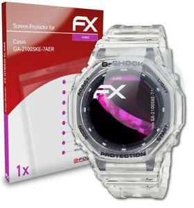 atFoliX Glass Protector for Casio GA-2100SKE-7AER 9H Hybrid-Glass
