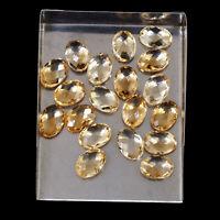 VVS Natural Citrine 14mm/10mm 19 Pcs Oval AAA Quality Checker Cut Gemstones Lot