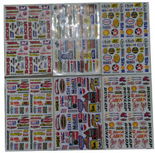 Set 6 sheets Rc Car Truck Mini Racing Stickers Decals Free ship #Rh680K