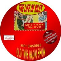 LIFE OF RILEY OLD TIME RADIO SHOW - 300+ EPISODES - MP3 FILES ON DVD - COMEDY