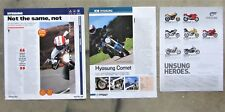 4x HYOSUNG GT250 GT650 COMET GTR Motorcycle Magazine Page Advertisement Articles