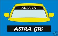 ASTRA GTE CAR  SUNSTRIP DECALS GRAPHICS STICKER choose any 2 colours from list