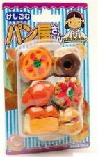 Set of 10 Iwako Japanese Eraser Set - Japanese Baked Bread Goods Toy S-1837x10