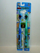 2 Peanuts Toothbrush Peanuts Makes Brushing Fun Blue