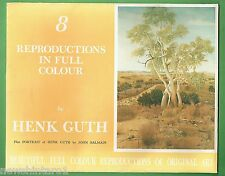 #T19. 8 REPRODUCTION PAINTINGS BY HENK GUTH PLUS PORTRAIT