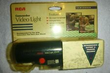 NEW RCA Camcorder Video Light  Mount including Rechargeable Battery & Charger