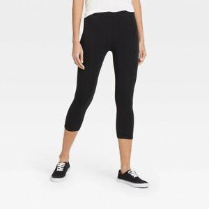 Women's Cotton Capri Leggings - Xhilaration Black S