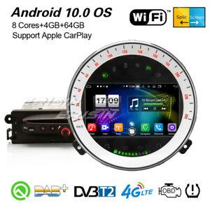 8-Core Android 10.0 CarPlay Autoradio DSP DAB+ GPS WiFi BT Navi BMW Mini Cooper