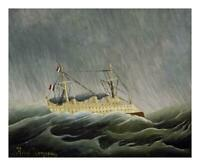 """Artworks Italia The Ship in the Storm-Paper Art-24""""x20"""""""