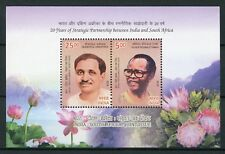 India 2018 MNH Diplomatic Relations JIS South Africa Oliver Tambo 2v M/S Stamps