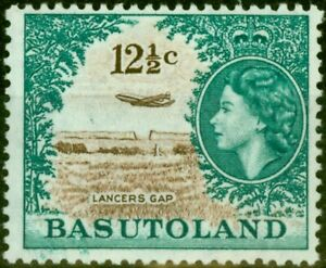 Basutoland 1962 12 1/2c Brown & Turquoise-Green SG76 Very Fine Lightly Mtd Mint