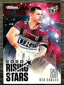 2021 NRL TRADERS '2020 RISING STARS' TRADING CARD - CADE CUST/SEA EAGLES