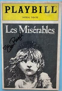 Eden Riegel (Only) Signed Playbill Les Miserables J. Mark McVey Robert DuSold 91