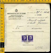Regno Imperiale su multa al postino H 976