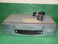 PACIFIC PV204 Video Cassette Recorder VHS Smart VCR Silver Slim FULLY TESTED