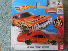 Véhicules miniatures oranges Hot Wheels Dodge
