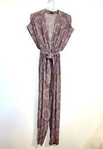 Zimmermann Size 8 Purple Pant Jumpsuit Plunge Neck High End Australian Designer