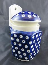 Boleslawiec Polish Pottery Blue Peacook Ceramic Gewürz Behälter spice containers