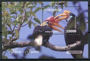 Indonesia 2018 MNH Fauna & Flora Knobbed Hornbill 1v M/S Hornbills Birds Stamps