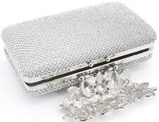 Para Mujer Bolsa Con Broche De Flor De Noche Boda Bolso de mano diamantes de imitación de cristal de teléfono