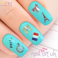 French Flag Paris Adhesive Nail Stickers, Decals, Art 01.02.064