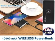Qi Wireless Powerbank with Torch Dual Battery Charger 4 iPhone X 8 S9 8 10000mh