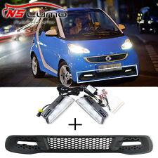 For Smart Fortwo 13-15 LED DRL Daytime Running Light White Fog Lamp With Bumper