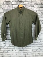 Roundtree & Yorke Gold Label Mens Small Green Button Down Long Sleeve Shirt