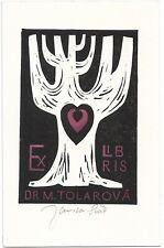 JAROSLAV SVAB: Exlibris für Dr. M. Tolarova