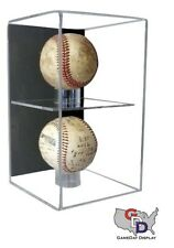 Wall Mount Double Baseball Display Case by GameDay Display UV Protecting USA