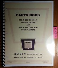 Oliver 202 252 2 Row 402 452 4 Row Corn Planter Parts Book Catalog Manual