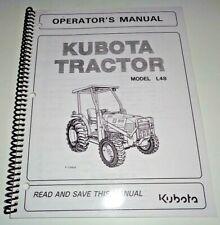 Kubota L48 Tractor Operators Owners Maintenance Trouble Shooting Manual OEM