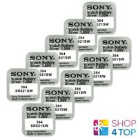 10 SONY 364 SR621SW BATTERIES SILVER OXIDE 1.55V WATCH BATTERY EXP 2021 NEW