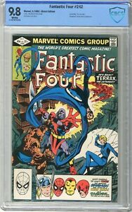 Fantastic Four  #242  CBCS   9.8  NMMT  White pgs  5/82 Spider-Man, Thor, Darede