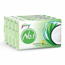 Godrej No.1 Bathing Soap - Coconut & Neem Soap, 150g (Pack of 4)