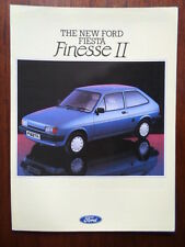 FORD FIESTA Mk2 Finesse II Special Edition 1986 UK Mkt Sales Brochure