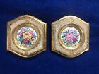 Vintage Florentia Hollywood Regency Art Picture Flowers Framed Gold Gilt Italy