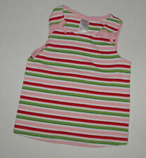 GYMBOREE WATERMELON PICNIC PINK & RED STRIPED TOP GIRLS 5 SUMMER