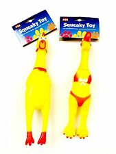 SQUEAKY CHEEKY CHICKEN DOG PUPPY TOY, Pet Love These, Assorted. 1x Supply