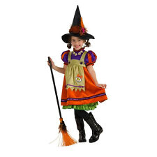 Girls Witch Costume, Classic & Sweet 8/10 M, Deluxe Quality With Multi layers