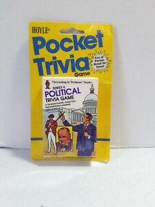 Vintage Pocket Political Trivia Cards Unopen 1984