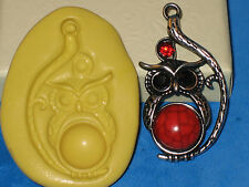 Owl Charm Silicone Push Mold A451 For Resin Clay Candy Jewelry Craft Fondant