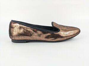 Clarks Bronze Leather Slip On Shoes Uk 3.5 Eu 36