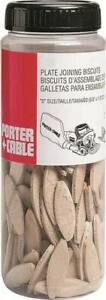 PORTER-CABLE 5562 PACK (100) Joining BiscuitS #20 Beech Wood Brown 9074410